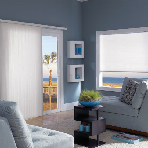 Comfortex Ovations Light Filtering Double Cell Shades Room Setting