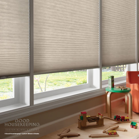 Good Housekeeping Light Filtering Double Cell Shades Room Setting