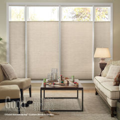 "Good Housekeeping Cellular Shades 3/8"" Double Cell Light Filtering Shades room scene"