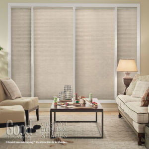 "Good Housekeeping Cellular Shades 1/2"" Single Cell Blackout Shades Room Setting"