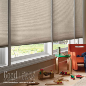 "Good Housekeeping Cellular Shades 1/2"" Single Cell Light Filtering Shades Room Setting"