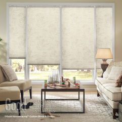 "Good Housekeeping Cellular Shades 3/4"" Single Cell Light Filtering Shades room scene"