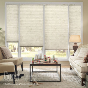 "Good Housekeeping Cellular Shades 3/4"" Single Cell Light Filtering Shades Room Setting"