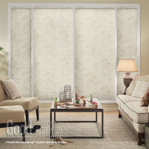 "Good Housekeeping Cellular Shades 3/4"" Single Cell Blackout Shades Room Setting"
