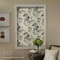 "Good Housekeeping Cellular Shades 3/4"" Single Cell Blackout Shades room scene"