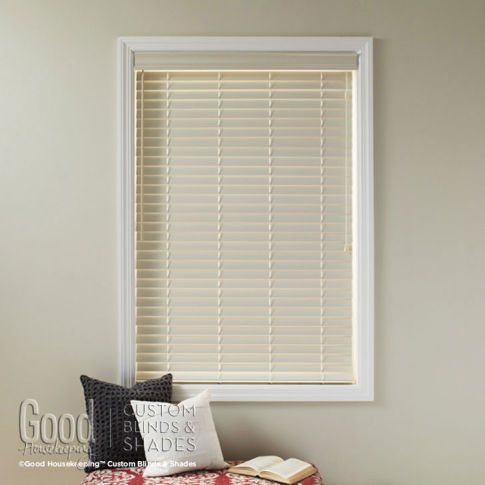 "Good Housekeeping Polymer 2"" Wood Alloy Blinds Room Setting"