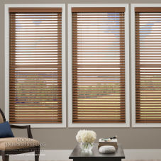 "Good Housekeeping Polymer Plus 2"" Faux Wood Blinds room scene"