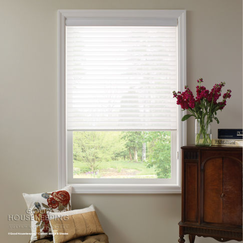 "Good Housekeeping Sheer Horizontal 2"" Window Shadings Room Setting"