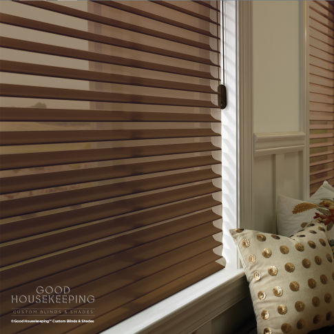 "Good Housekeeping Sheer Horizontal 3"" Window Shadings Room Setting"