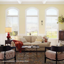 "Good Housekeeping Sheer Horizontal 3"" Window Shadings room scene"