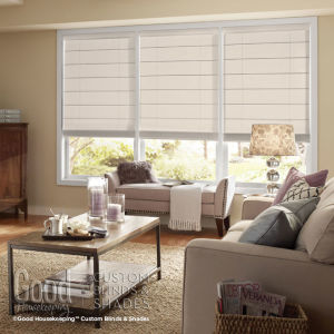 Good Housekeeping Flat Panel Roman Shades Room Setting