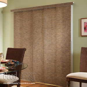 Good Housekeeping Panel Track Roller Shade Fabrics Room Setting