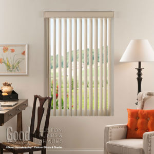 Good Housekeeping Cordless Vertical Blinds Room Setting