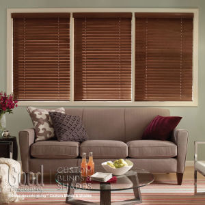 "Good Housekeeping 2"" Wood Blinds Room Setting"