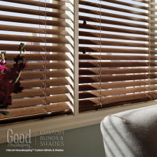 "Good Housekeeping 2"" Wood Blinds room scene"