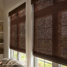 Good Housekeeping Classic Flat Roman Woven Wood Shades