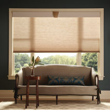 "Graber CrystalPleat 3/4"" Single Cell Light Filtering Shades room scene"