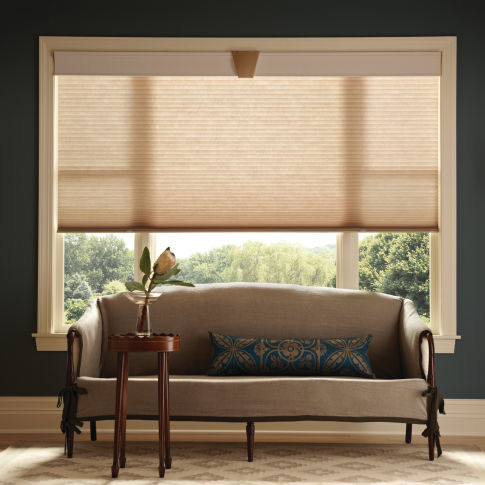 Graber CrystalPleat Light Filtering Single Cell Shades Room Setting
