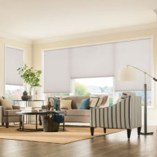 Graber CrystalPleat Light Filtering Double Cell Shades room scene