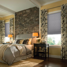 Graber CrystalPleat Blackout Single Cell Shades room scene