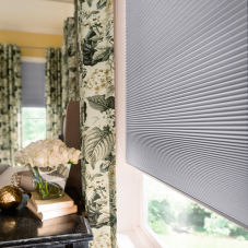 Graber CrystalPleat Blackout Double Cell Shades room scene