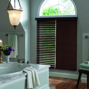 "Graber Lake Forest 2"" Faux Wood Blinds Room Setting"