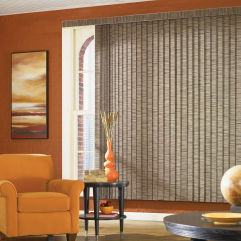 Graber Fabric Vertical Blinds room scene