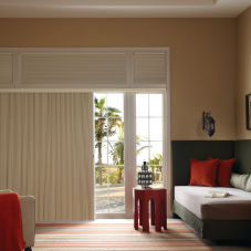 Graber Slide-Vue Blackout Double Cell Shades room scene