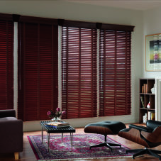 "Graber Traditions 2"" Wood Blinds room scene"