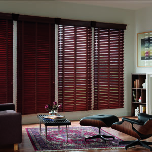 "Graber Traditions 2"" Wood Blinds Room Setting"