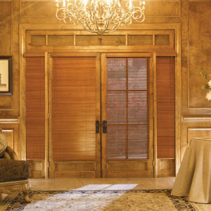 "Graber Traditions 1""  Wood Blinds Room Setting"