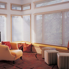 "Kristan Cunningham Studios 2-1/2"" Sheer Shadings room scene"