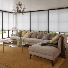 Levolor Accordia Sheer Efficiency Single Cell Shades room scene