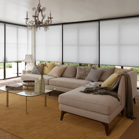 Levolor Accordia Single Cell Sheer Efficiency Shades Room Setting
