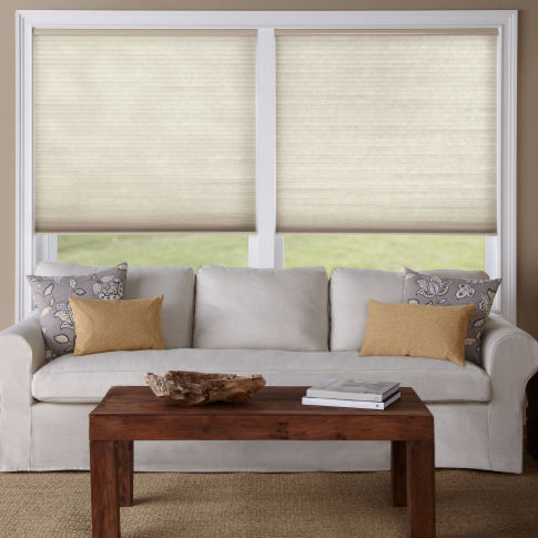Levolor Accordia Single Cell Light Filtering Shades Room Setting