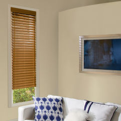 "Levolor Visions 2""  Faux Wood Blinds room scene"