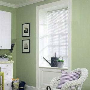 Levolor Riviera One Mini Blinds Room Setting