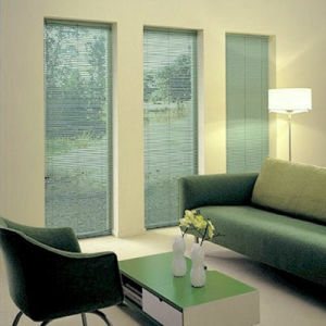 "Levolor Riviera 1/2""  Micro Mini Blinds Room Setting"