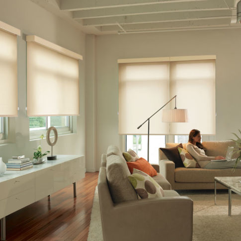 Levolor Custom Roller Shades Room Setting