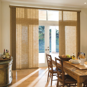 Levolor Custom Fabric Vertical Blinds  Room Setting