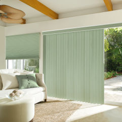 Levolor Custom S-Curve Vertical Blinds room scene