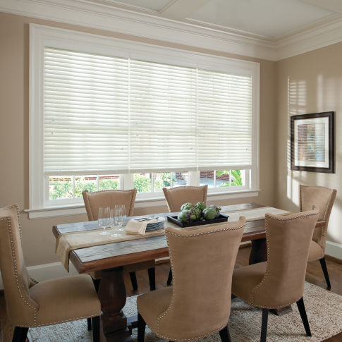 "Levolor Classic Value 2"" Wood Blinds Room Setting"