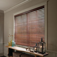 "Levolor Premium 2-1/2"" Real Wood Blinds room scene"
