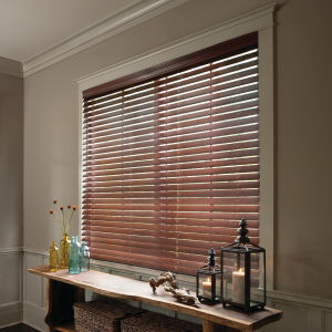 "Levolor Premium 2-1/2"" Real Wood Blinds Room Setting"