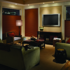 "M&B Honeycomb 3/4"" Single Cell Blackout Shades room scene"