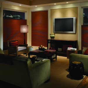 "M&B Honeycomb 3/4"" Single Cell Blackout Shades Room Setting"