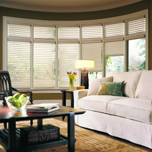 "M&B Arabesque 2-1/2"" Window Shadings Room Setting"