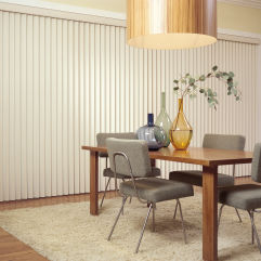 M&B Vinyl Vertical Blinds room scene