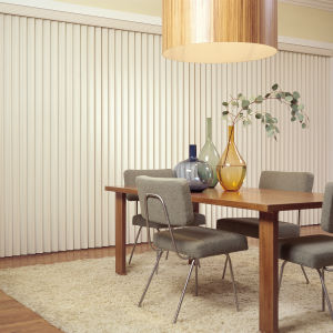 M&B Vinyl Vertical Blinds Room Setting