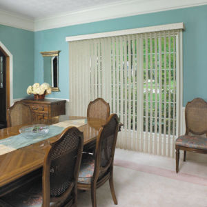 M&B S-Curve Vertical Blinds Room Setting